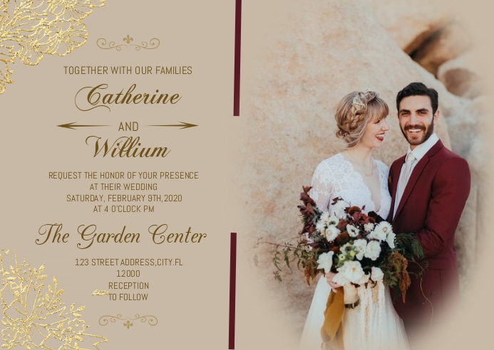 WEDDING INVITATION FLYER DESIGN Kartu Pos template