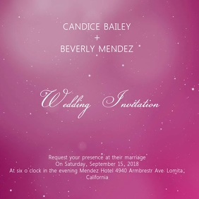 Wedding Invitation Flyer