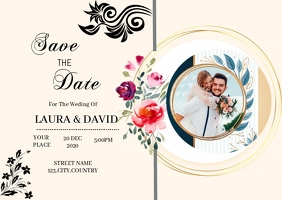WEDDING INVITATION FLYER DESIGN Postal template
