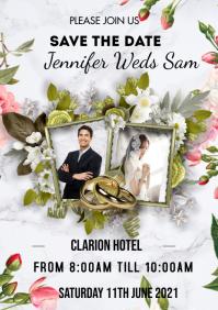 Wedding Invitation Flyer A3 template