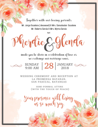 Wedding invitation templates postermywall wedding invitation stopboris Choice Image