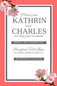 Wedding Invitation Templates PosterMyWall - Wedding invitation templates with photo