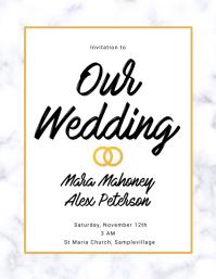 Wedding Invitation Marble Flyer