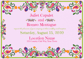 Wedding Invitation Modern with Foil