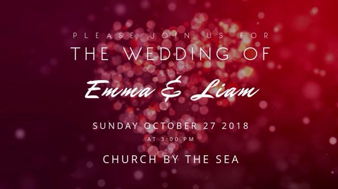 Wedding Invitation Motion Poster Digitale display (16:9) template