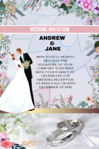 Wedding invitation or anniversary card