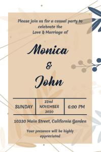 Wedding Invitation Poster Design template
