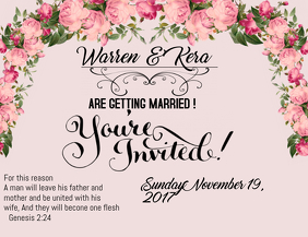 Wedding invitation templates postermywall wedding invitation stopboris Image collections