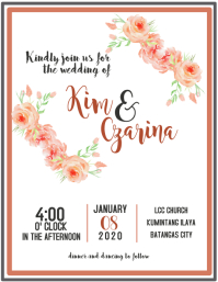 Customizable design templates for romantic wedding invitation wedding invitation stopboris Choice Image