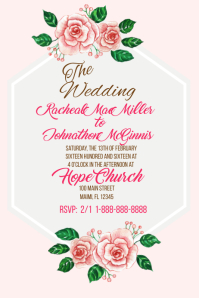 customizable design templates for rodeo wedding invitation