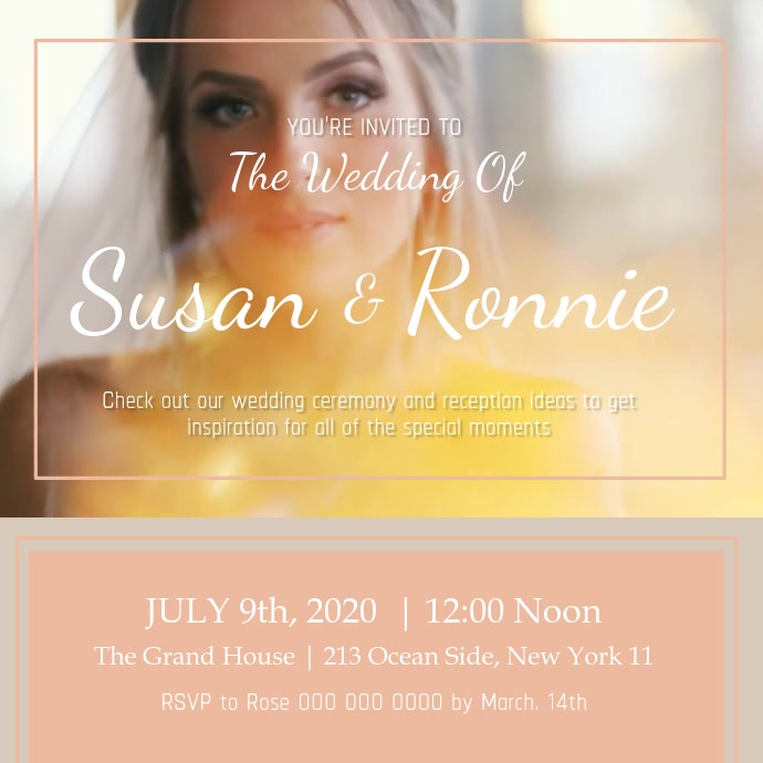 Wedding Invitation Square Video