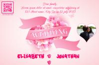 Wedding invitations card - PosterMyWall - Pink version