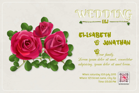 Wedding invitation template - PosterMyWall