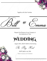 Wedding Invitation Template Pamflet (Letter AS)
