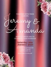Wedding Invitation Template Flyer (US Letter)