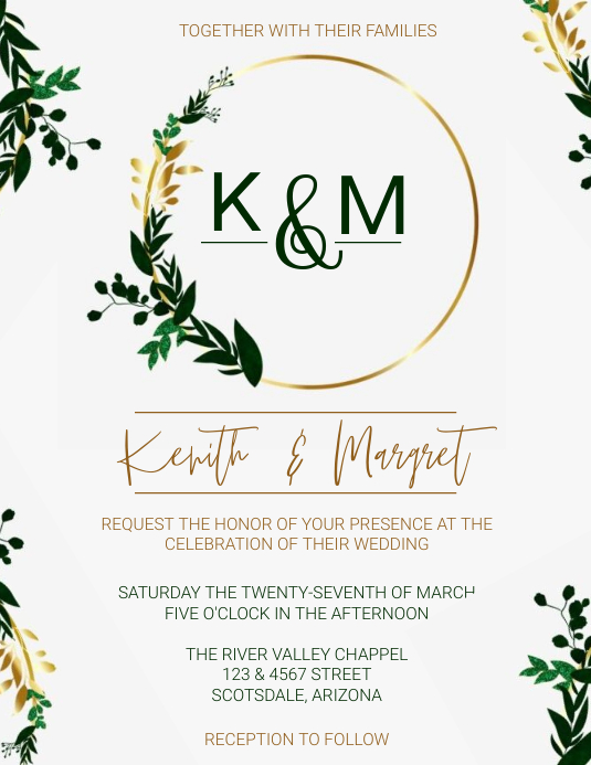 Wedding Invitation Template Flyer (US Letter)