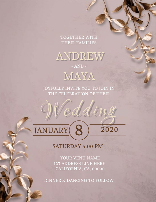 Wedding Invitation Template Iflaya (Incwadi ye-US)