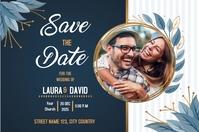 Wedding invitation template with image Plakat