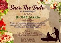 Wedding Invitation Template. Cartolina