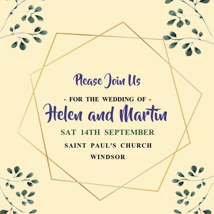 Wedding Invitation Video Template