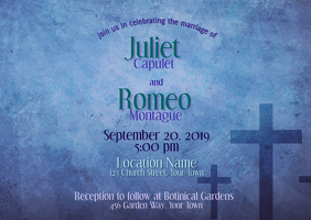 Wedding Invitation with cross