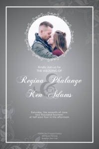 Customize 960 Wedding Invitation Templates Postermywall