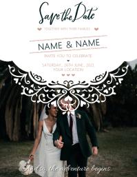 Wedding Invite Volante (Carta US) template