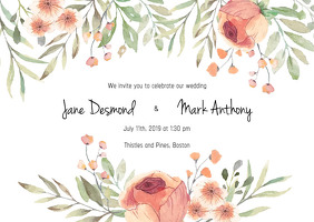 Wedding Invite - Floral Theme