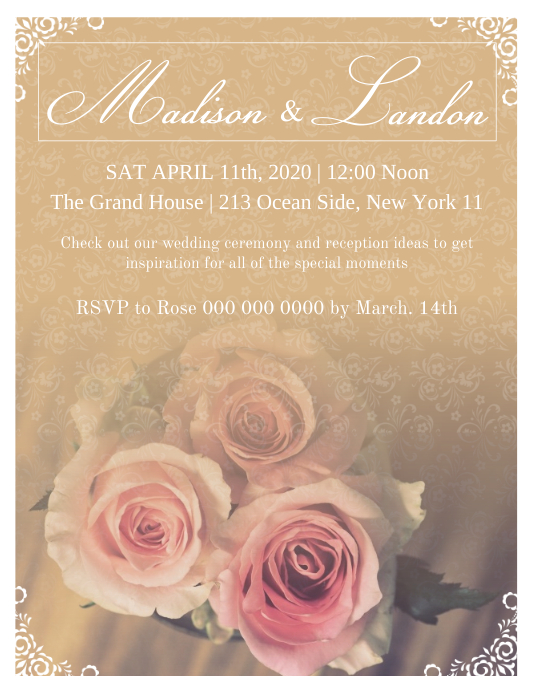 Wedding Invite Flyer template