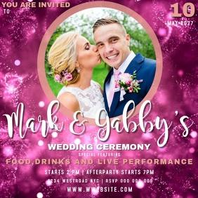 WEDDING INVITE INVITATION CARD template