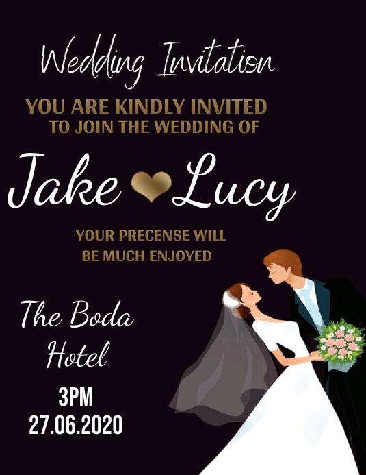 wedding invite invitation Design Template ใบปลิว (US Letter)