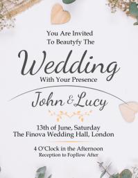 wedding invite invitation Design Template Flyer (US Letter)
