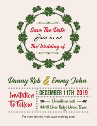 Wedding Invite Save the Date Flyer
