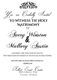 Wedding Invites (Black and White)