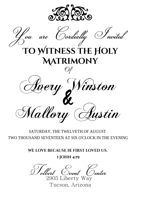 Wedding Invites (Black and White)