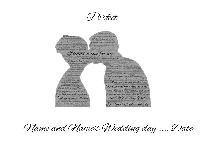 Wedding Lyrics Perfect Template | PosterMyWall