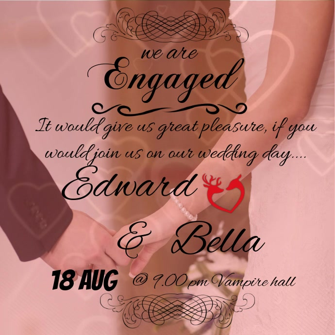wedding/marriage invitation