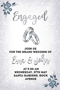 Wedding/Marriage invitation Poster template