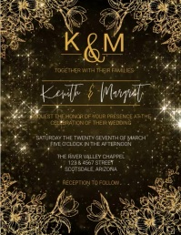 Wedding MARRIAGE Invitation FLYER Template