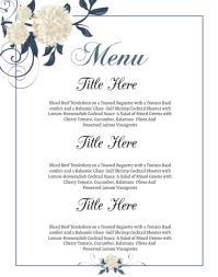 Wedding Menu Poster/pannello template