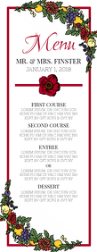 Wedding Menu Half Page Letter template