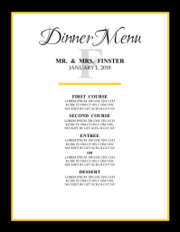 Dinner Menu Template | 3 220 Customizable Design Templates For Dinner Menu Postermywall