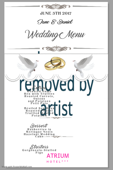 wedding menu1