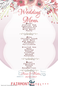 wedding menu5