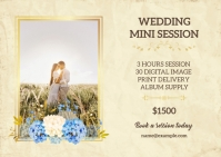 Wedding Mini session Template A6