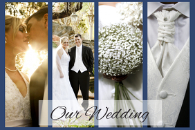 create wedding photo collages for free postermywall