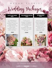 Wedding Packages Florist Flyer Template