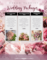 Wedding Packages Florist Flyer Template