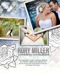 Wedding Party Planner Flyer Volante (Carta US) template