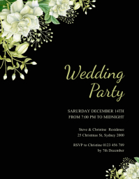 wedding party poster Flyer (US Letter) template